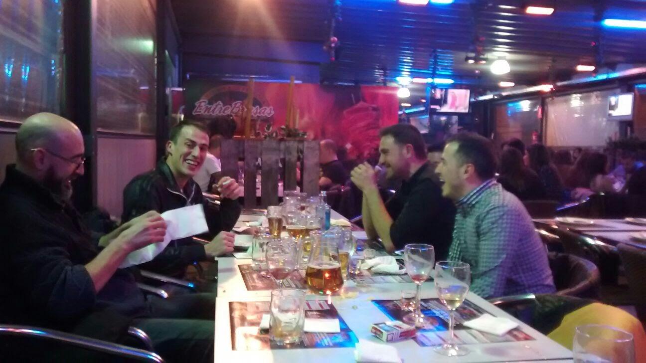 cena de empresa 2015 - en la mesa