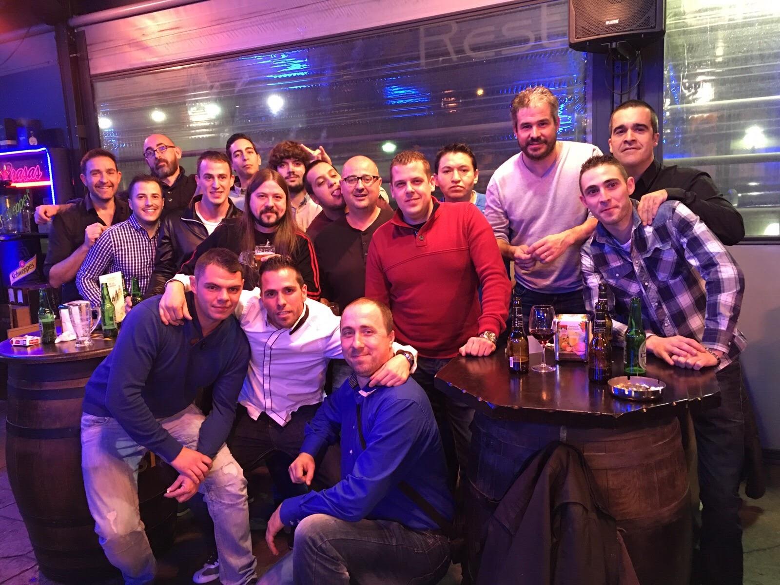 cena de empresa 2015 foto de grupo