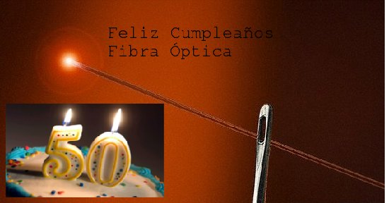 feliz 50 cumpleaños fibra óptica