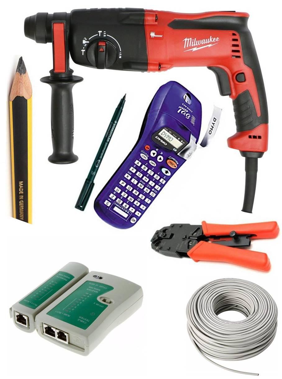 herramientas y materiales para cablear con utp