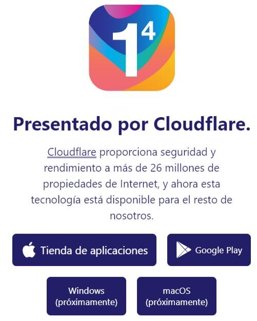 app dns ofrecida para cloudflare disponible para android y Iphone